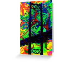 Psychedelic Bridge Greeting Card