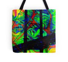 Psychedelic Bridge Tote Bag