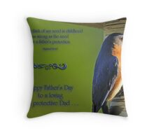 A Father's Protection Throw Pillow