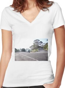 Motorcyclin' Women's Fitted V-Neck T-Shirt