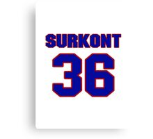 National baseball player Max Surkont jersey 36 Canvas Print
