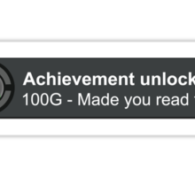 Achievement Unlocked Sticker