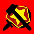 HAMMER  SICKLE AND RED STAR by SofiaYoushi