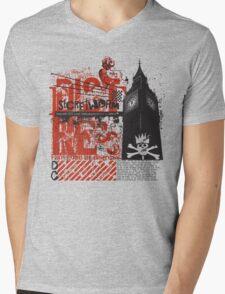SW Distressed Logo Tee Mens V-Neck T-Shirt