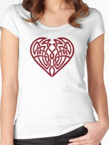 Heart (clear) Women's Fitted Scoop T-Shirt