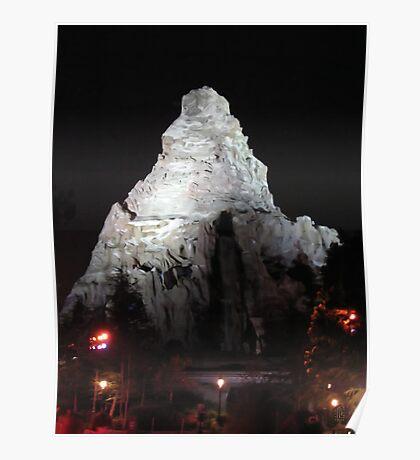 Matterhorn Mountain at Night Poster