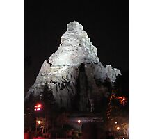 Matterhorn Mountain at Night Photographic Print