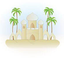 Sand Palace with Palms by trennea