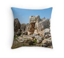Ta' Hagrat Temples Throw Pillow
