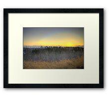Edmonton Sunset (HDR) Framed Print