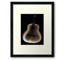 Painted Guitar Framed Print