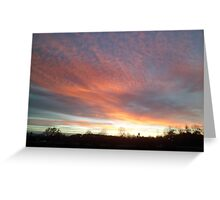 Chromatic Sky In The Morning Greeting Card