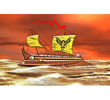 7th to the 4th century BCE Greek Trireme Photographic Print