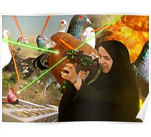 The Hijabi Heroines take on the Intergalactic dOve Invaders Poster