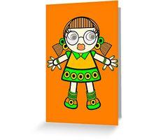 tangerine baby Greeting Card