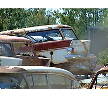 Stacked Wagons Photographic Print