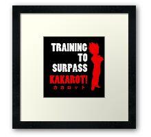 Vegeta - Training to Surpass Kakarot! 2.0 Framed Print