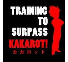 Vegeta - Training to Surpass Kakarot! 2.0 Photographic Print