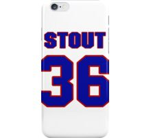 National baseball player Allyn Stout jersey 36 iPhone Case/Skin