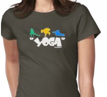 """yoga     """"all"""" Womens Fitted T-Shirt"""