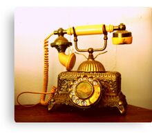 Antique Call... South Africa (Antique Telephone) Canvas Print
