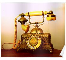 Antique Call... South Africa (Antique Telephone) Poster