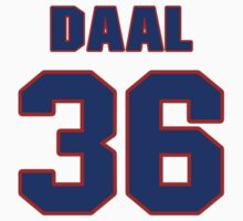 National baseball player Omar Daal jersey 36 by imsport