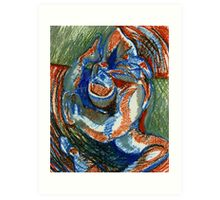 Centrifugal Form (Oil Pastels)- Art Print
