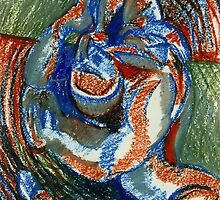 Centrifugal Form (Oil Pastels)- by Robert Dye