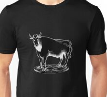 Black and white bull graphic design Unisex T-Shirt
