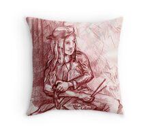 Self-portrait as Artist (Drawing)- Throw Pillow