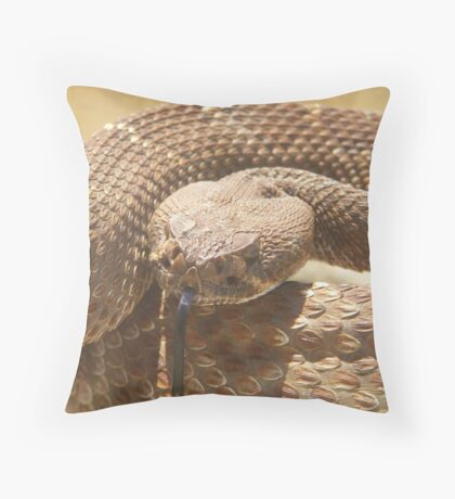 Observant Red Throw Pillow