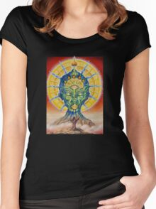 vision of the shaman Women's Fitted Scoop T-Shirt