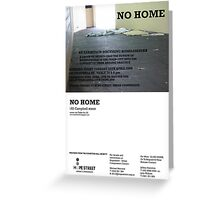 No Home Project and Exhibition Opening April 15th - You're invited! Greeting Card