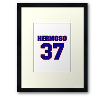 National baseball player Remy Hermoso jersey 37 Framed Print
