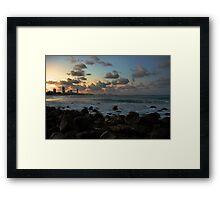 Burleigh Beach Twilight Framed Print