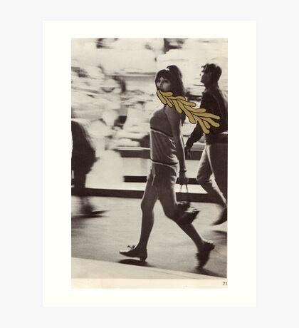 walk and spew Art Print