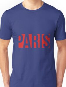 PARIS red/white Unisex T-Shirt