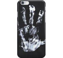 Palm print black & white iPhone Case/Skin
