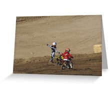 Loretta Lynn Qualifier SW Area - Competive Edge MX - Hesperia, CA Mini Rider -Waits for the flagger assistance in the rut!, Lei Hedger Photography All Rights Reserved (1071 Views 5-8-11) Greeting Card