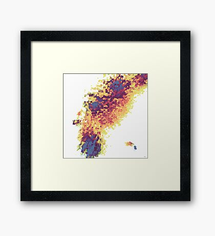 GEOMETRICAL FIRE Framed Print