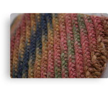 Knitted Weave Canvas Print
