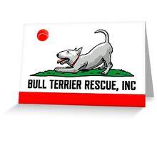 Bull Terrier Rescue, Inc. California Flag Greeting Card