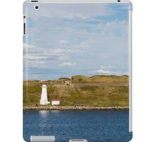 White Lighthouse on Green and Blue iPad Case/Skin