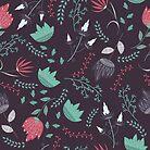 Fantasy flowers pattern by JuliaBadeeva