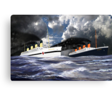 RMS Titanic and her sister the HMHS Britannic Canvas Print