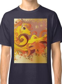 Cartoon flaming horse with decorative mane Classic T-Shirt