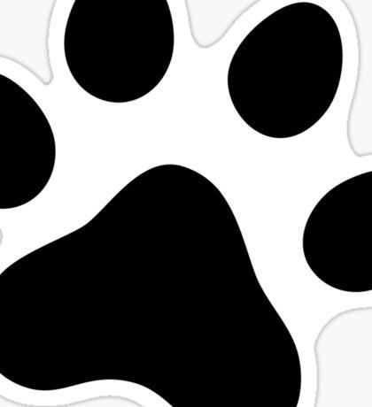 Black paw print sticker Sticker
