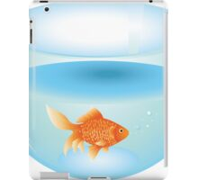 Gold fish swimming in the water in a fishbowl 2 iPad Case/Skin