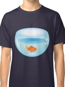 Gold fish swimming in the water in a fishbowl 2 Classic T-Shirt